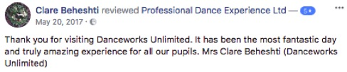 Review of Professional Dance Experience Professional Ballet Workshops 5 star