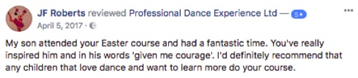 Review of Professional Dance Experience Easter Dance Course