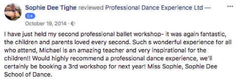 5 star reviews Professional Dance Experience